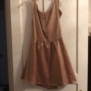 Rose gold backless short dress